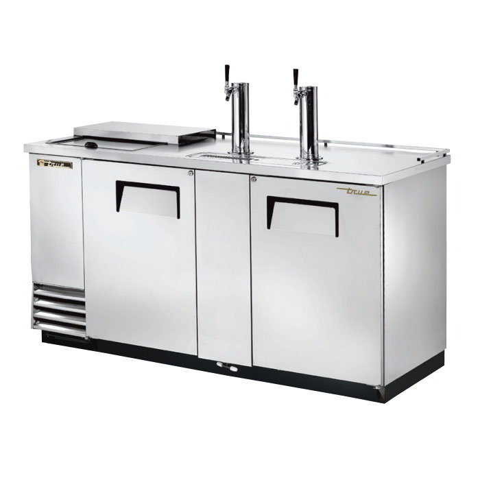 "True TDD-3CT-S 69"" Draft Beer System w/ (3) Keg Capacity - (2) Columns, Stainless, 115v"