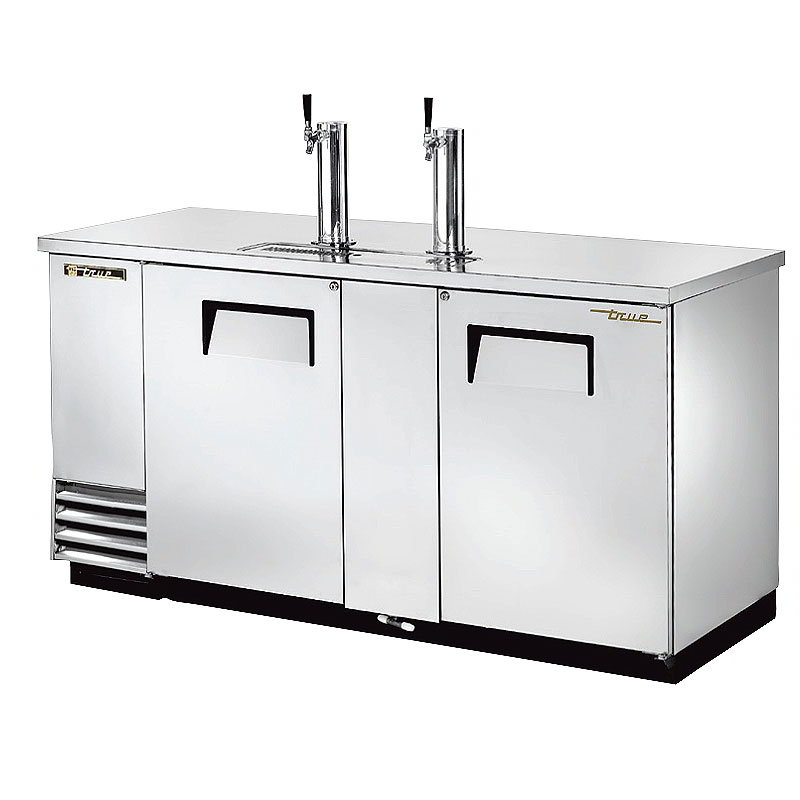 "True TDD-3-S 69"" Draft Beer System w/ (3) Keg Capacity - (2) Columns, Stainless, 115v"
