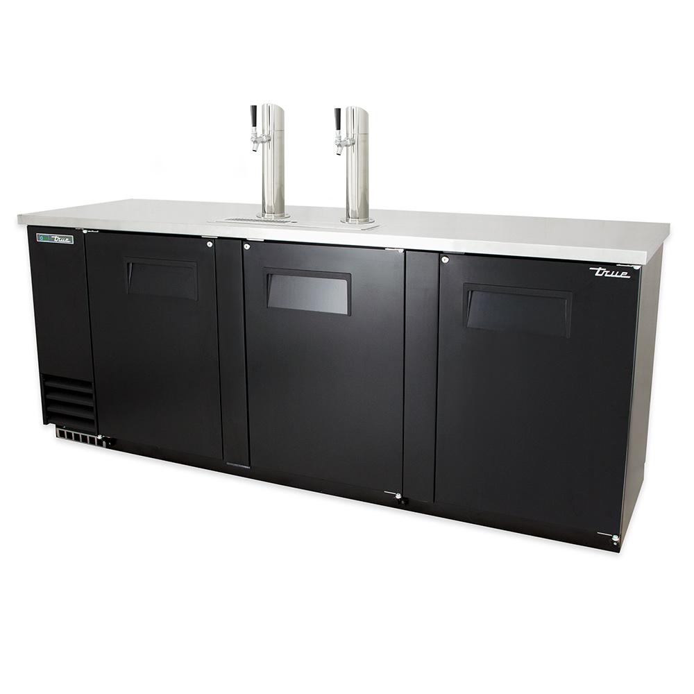 True TDD-4 91 in Draft Beer Cooler 2 Faucets 3 Door Holds 4 Kegs Restaurant Supply