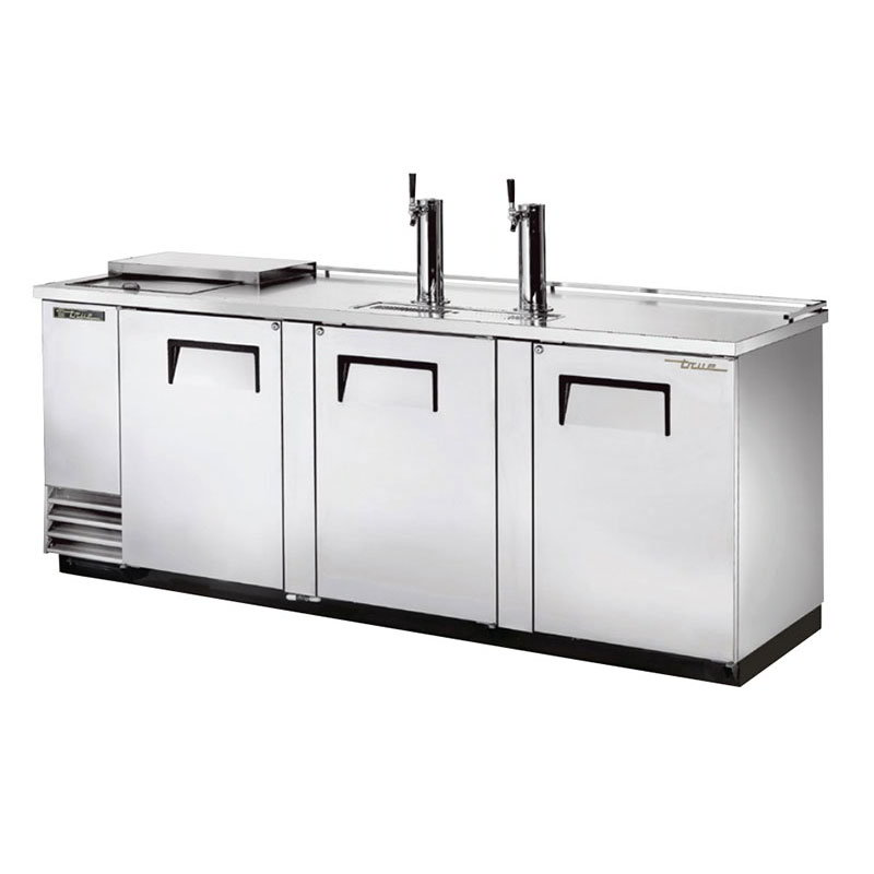 "True TDD-4CT-S 90"" Draft Beer System w/ (4) Keg Capacity - (2) Columns, Stainless, 115v"