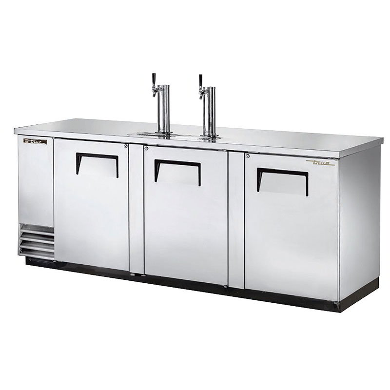 "True TDD-4-S 90"" Draft Beer System w/ (4) Keg Capacity - (2) Columns, Stainless, 115v"