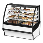 "True TDM-DZ-48-GE/GE-W-W 48.25"" Full-Service Dual-Zone Bakery Case w/ Curved Glass - (4) Levels, 115v"