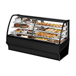 "True TDM-DZ-77-GE/GE-S-S 77.25"" Full-Service Dual-Zone Bakery Case w/ Curved Glass - (4) Levels, 115v"