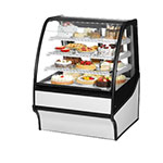 "True TDM-R-36-GE/GE-S-W 36.25"" Full-Service Bakery Case w/ Curved Glass - (4) Levels, 115v"
