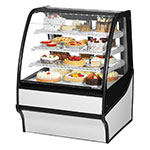 "True TDM-R-36-GE/GE-W-W 36.25"" Full-Service Bakery Case w/ Curved Glass - (4) Levels, 115v"