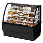 "True TDM-R-48-GE/GE-B-W 48.25"" Full-Service Bakery Case w/ Curved Glass - (4) Levels, 115v"