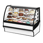 "True TDM-R-59-GE/GE-S-W 59.25"" Full-Service Bakery Case w/ Curved Glass - (4) Levels, 115v"