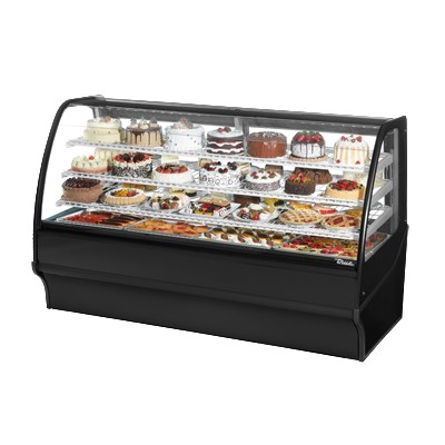 "True TDM-R-77-GE/GE-S-S 77.25"" Full-Service Bakery Case w/ Curved Glass - (4) Levels, 115v"