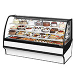 "True TDM-R-77-GE/GE-W-W 77.25"" Full Service Bakery Case w/ Curved Glass - (4) Levels, 115v"