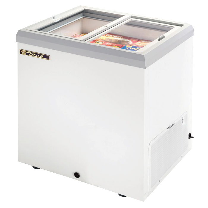 "True TFM-29FL WHT 30"" Mobile Ice Cream Freezer, White, 115v"