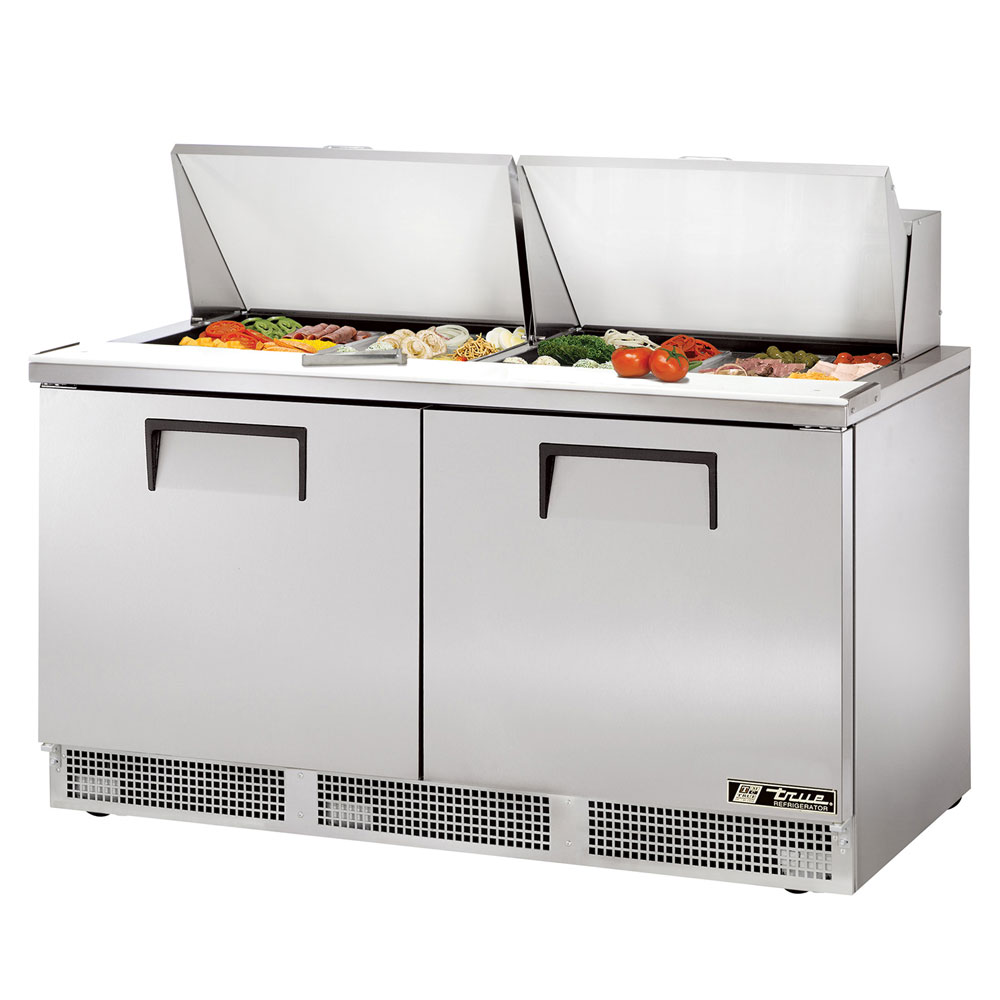 "True TFP-64-24M 64"" Sandwich/Salad Prep Table w/ Refrigerated Base, 115v"