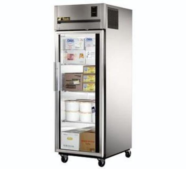 True TG1F-1G Freezer, Reach-In, 1 Section/Glass Door, 3 Shelves, 31 cu ft