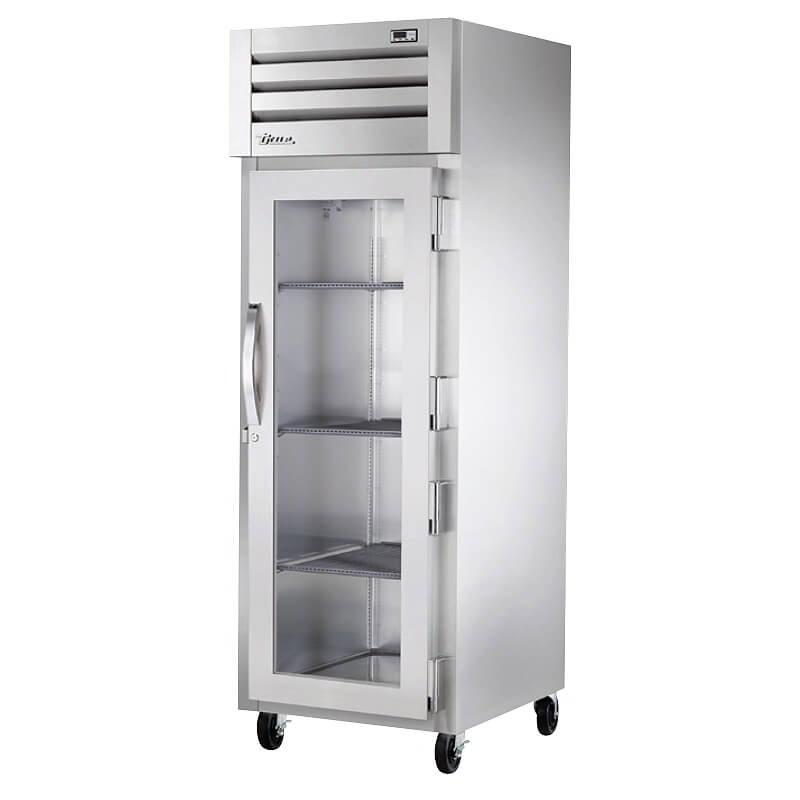 "True STG1H-1G 28"" Pass-Thru Heated Cabinet - 4-Solid Half Doors, Stainless/Aluminum"