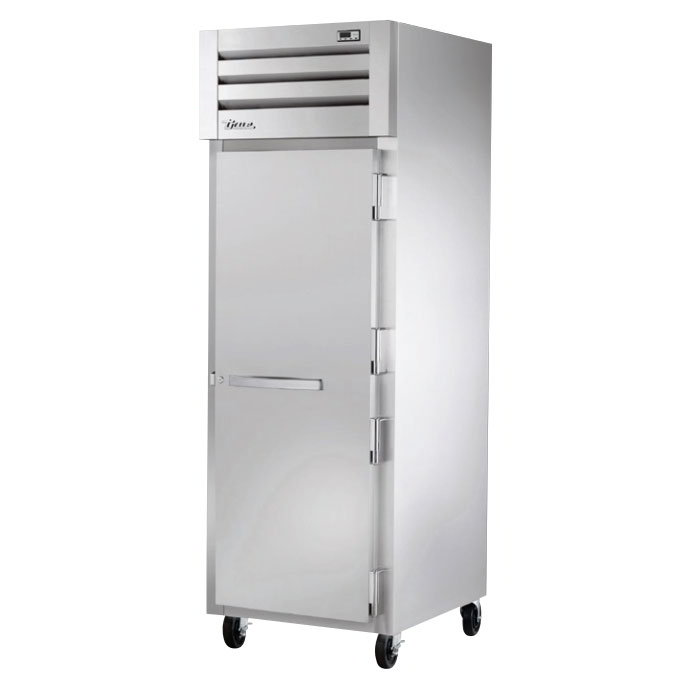 """True STG1H-1S 28"""" Roll-In Heated Cabinet - 1-Solid Door, Stainless/Aluminum"""
