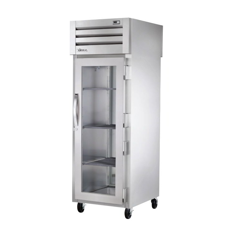 "True STG1HPT-1G-1S 28"" Pass-Thru Heated Cabinet - 1-Glass/1-Solid Door, Stainless/Aluminum"