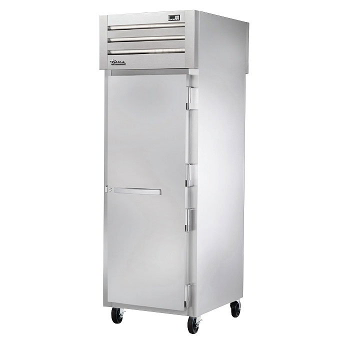 "True STG1HPT-1S-1S 28"" Pass-Thru Heated Cabinet - 2-Solid Doors, Stainless/Aluminum"