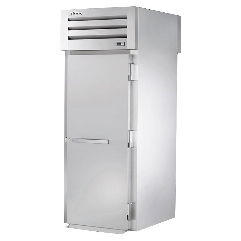 "True STG1HRT-1S-1S 35"" Roll-Thru Heated Cabinet - 2-Solid Doors, Stainless/Aluminum"