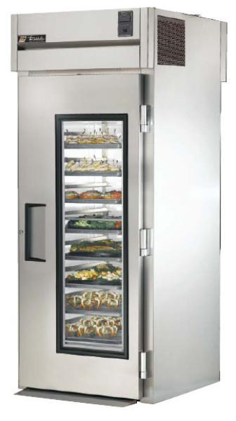 TRUE Refrigeration TG1RRT-1G-1S Roll Thru Refrigerator w/ Ramp Glass & Solid Doors 37-cu ft Restaurant Supply