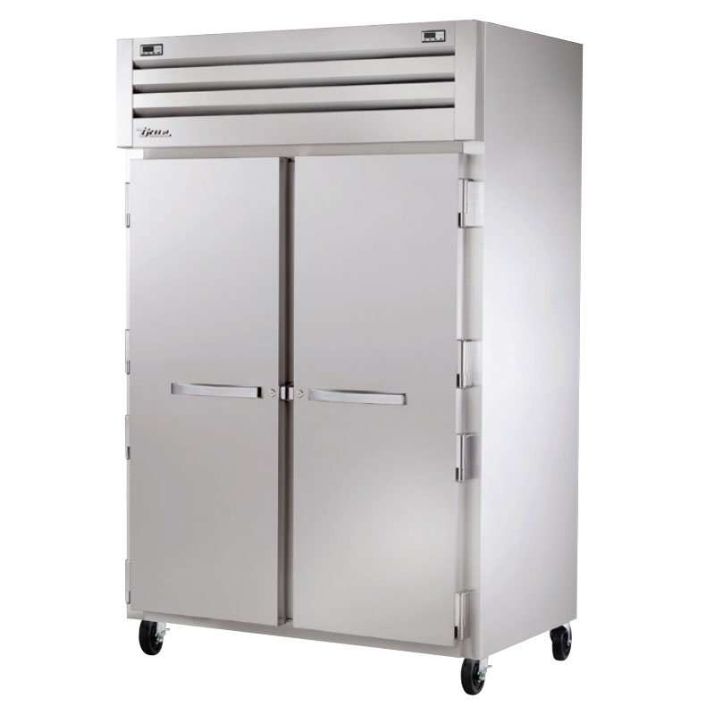 "True STG2DT-2S 53"" Two Section Commercial Refrigerator Freezer - Solid Doors, Top Compressor, 115v"