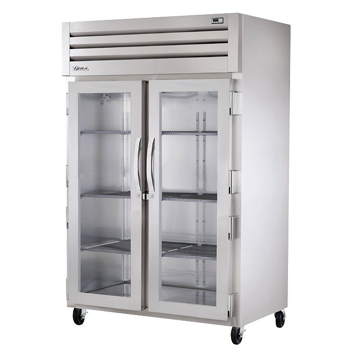 "True STG2H-2G 53"" Reach-In Heated Cabinet - 2-Glass Doors, Stainless/Aluminum"