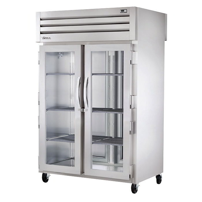 "True STG2HPT-2G-2S 53"" Pass-Thru Heated Cabinet - 2-Glass/2-Solid Doors, Stainless/Aluminum"