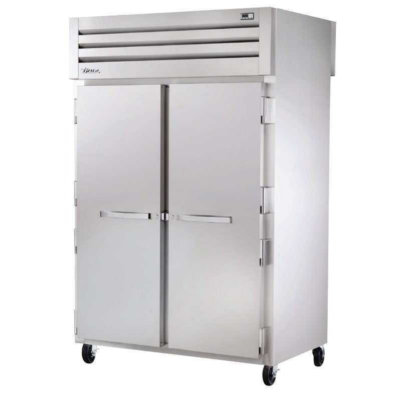 "True STG2HPT-2S-2S 53"" Pass-Thru Heated Cabinet - 4-Solid Doors, Stainless/Aluminum"