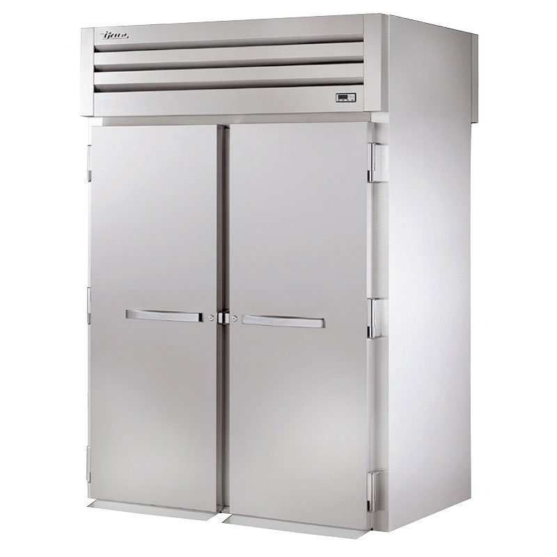 "True STG2HRT-2S-2S 68"" Roll-Thru Heated Cabinet - 4-Solid Doors, Stainless/Aluminum"