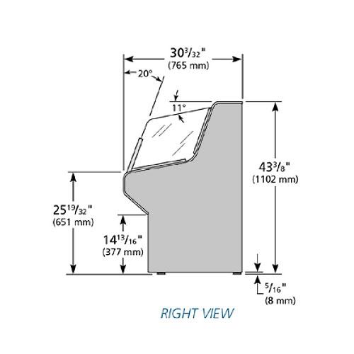 "True THAC-36 36"" Horizontal Open Air Cooler w/ (3) Levels, Black, 115v"