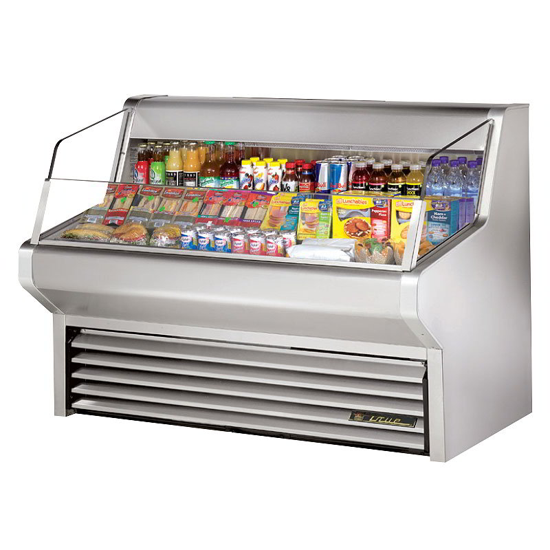 "True THAC-60-S 60"" Horizontal Open Air Cooler w/ (3) Levels, Stainless, 115v"