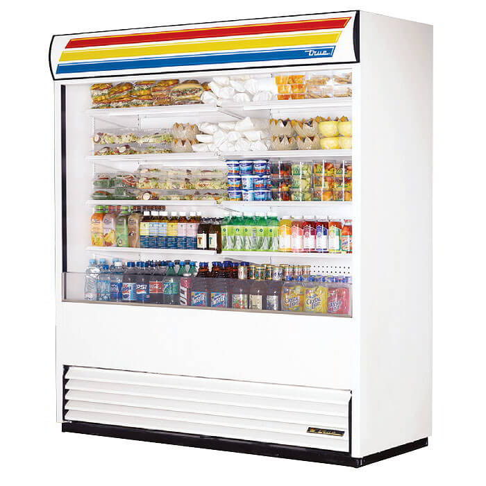 "True THDC-4 30.63"" Stand Alone Ice Cream Freezer w/ 5-Tub Capacity & 2-Tub Storage, 115v"