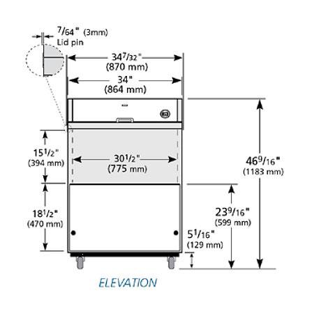 True TMC-34-HC Milk Cooler w/ Top & Side Access - (512) Half Pint Carton Capacity, 115v