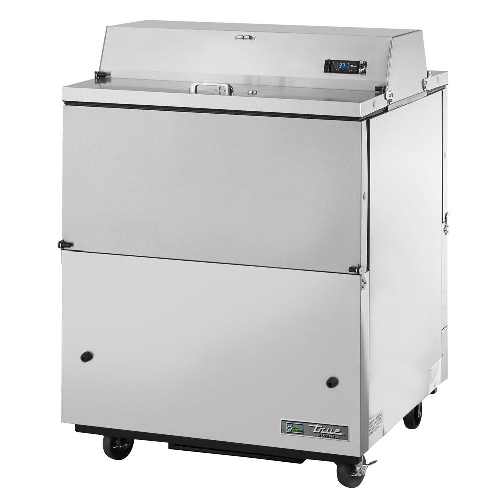 True TMC-34-S-DS-SS Milk Cooler w/ Top & Side Access - (512) Half Pint Carton Capacity, 115v