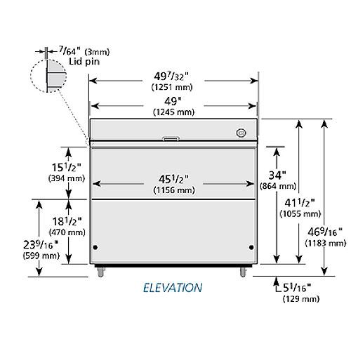 True TMC-49-S-HC Milk Cooler w/ Top & Side Access - (768) Half Pint Carton Capacity, 115v