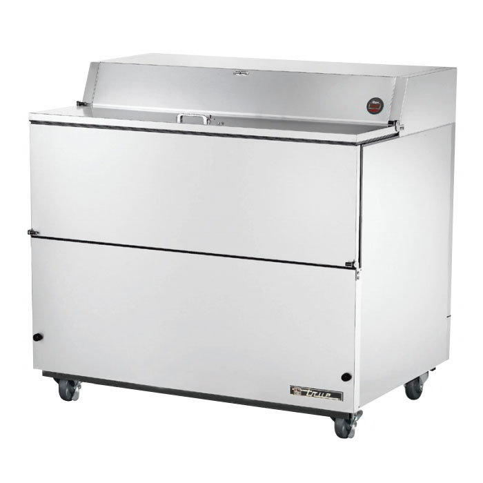 True TMC-49-S-HC Milk Cooler w/ Top & Side Access - (768) Half Pint Carton Capacity, 115v