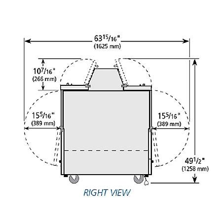 True TMC-49-S-DS-SS-HC Milk Cooler w/ Top & Side Access - (768) Half Pint Carton Capacity, 115v