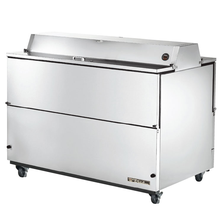 True TMC-58-S-DS Milk Cooler w/ Top & Side Access - (1024) Half Pint Carton Capacity, 115v