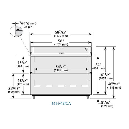 True TMC-58-S-SS Milk Cooler w/ Top & Side Access - (1024) Half Pint Carton Capacity, 115v
