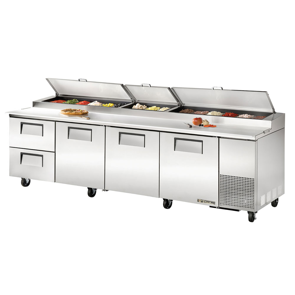 "True TPP-119D-2 119"" Pizza Prep Table w/ Refrigerated Base, 115v"