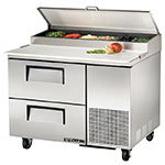 "True TPP-44D-2 44"" Pizza Prep Table w/ Refrigerated Base, 115v"
