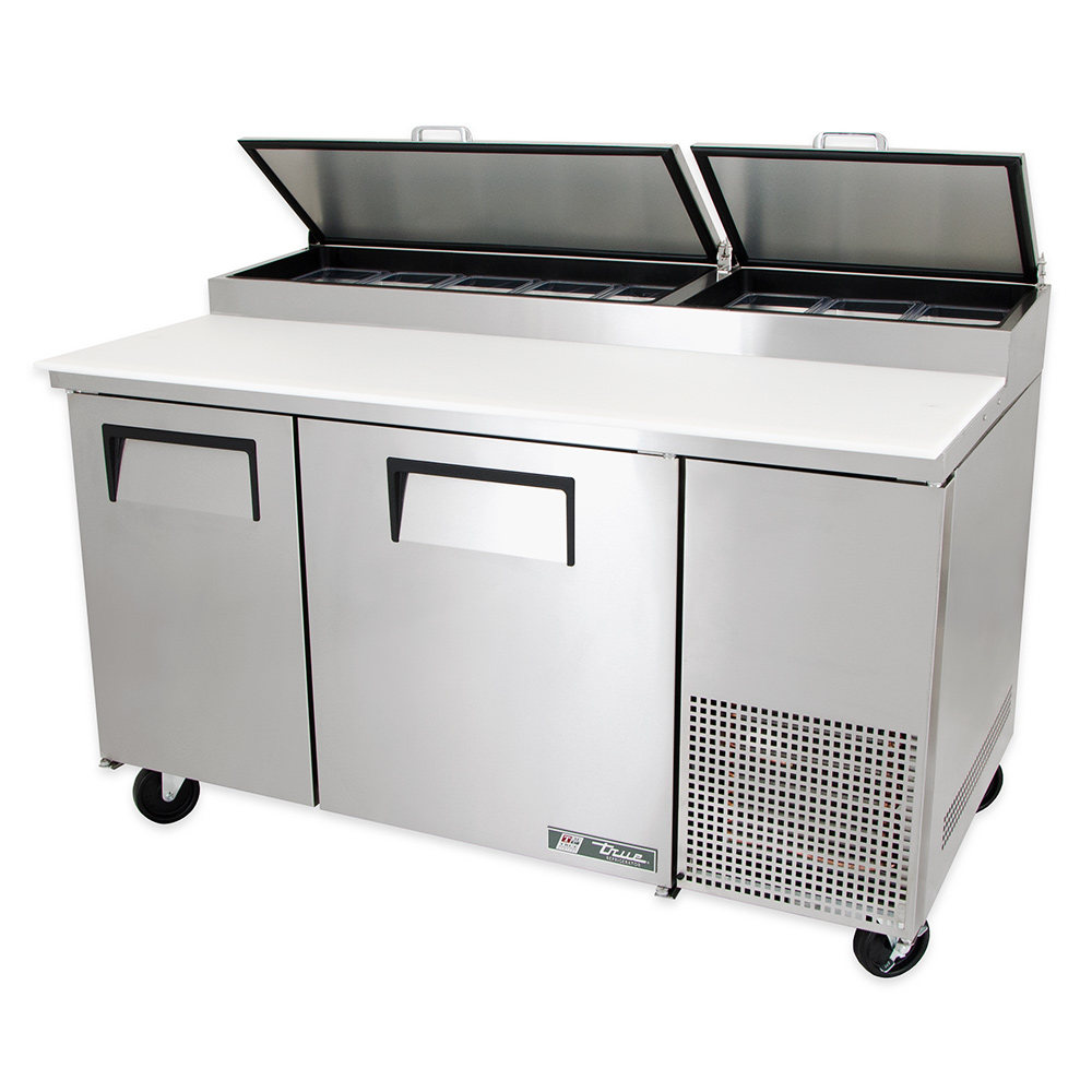 "True TPP-60 60"" Pizza Prep Table w/ Refrigerated Base, 115v"