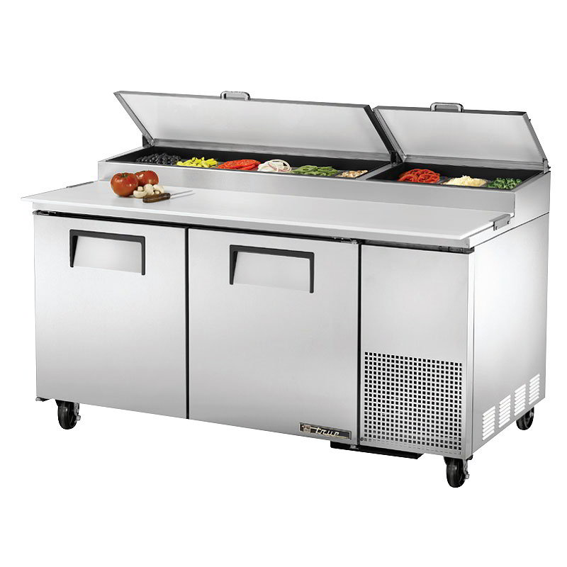 "True TPP-67 67"" Pizza Prep Table w/ Refrigerated Base, 115v"