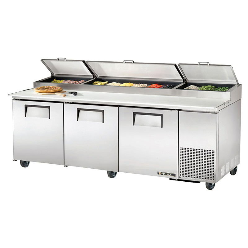 "True TPP-93 93"" Pizza Prep Table w/ Refrigerated Base, 115v"