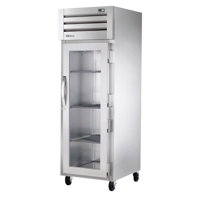 "True STR1H-1G 27-1/2"" Reach-In Heated Cabinet - 1-Section, Glass Full Door, Stainless 208-230v"