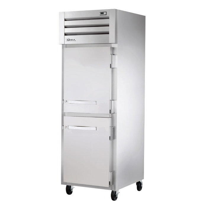 "True STR1H-2HS 28"" Reach-In Heated Cabinet - 2-Solid Half Doors, All Stainless"