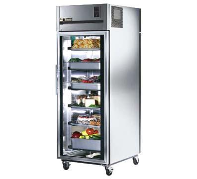 True TR1RPT-1G-1S Pass Thru Refrigerator All Stainless Restaurant Supply