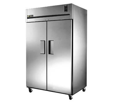 True TR2F-2S Freezer, Reach-In, 2 Section/SS Doors, Energy Star, 56 cu ft