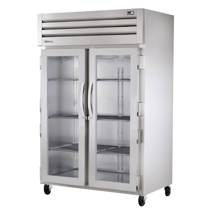 True TR2H-2G Heated Cabinet Reach-In 2 Section/2 Glass Doors Restaurant Supply