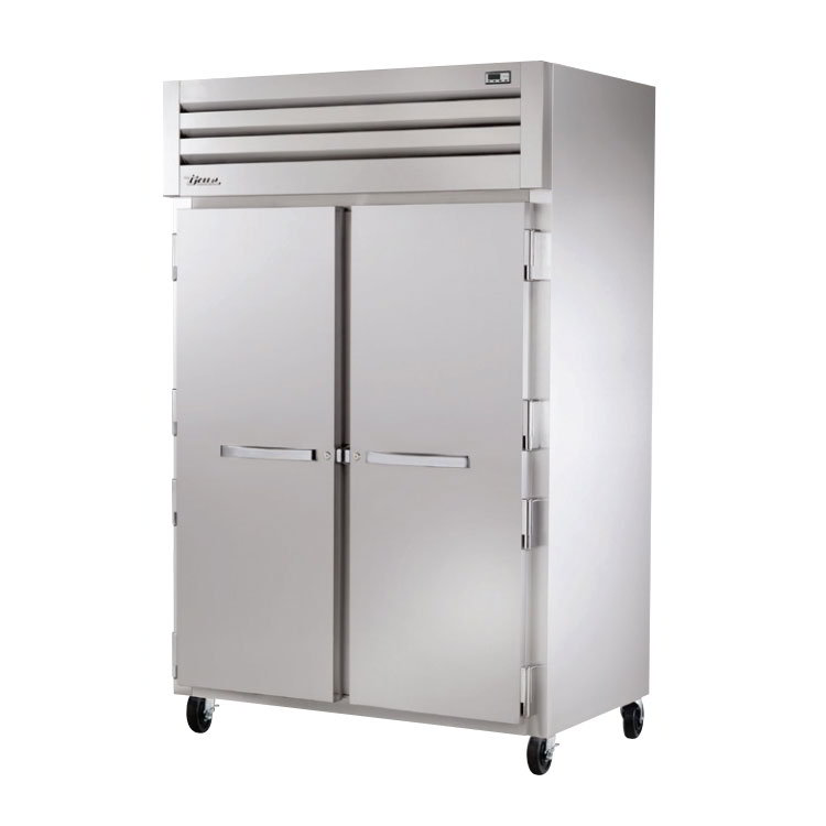 "True STR2H-2S 53"" Reach-In Heated Cabinet - 2-Solid Doors, All Stainless"