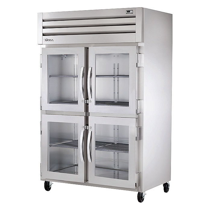 "True STR2H-4HG 53"" Reach-In Heated Cabinet - 2-Glass Half Doors, All Stainless"