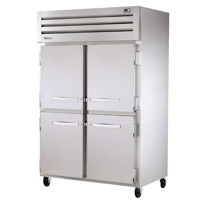 """True STR2H-4HS 53"""" Reach-In Heated Cabinet - 4-Solid Half Doors, All Stainless"""